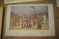 """Farbdruck """"Unsere Schutztruppen in Afrika"""", Original von Professor R. Knötel, um 1905"""