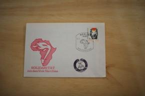Briefumschlag, Edition DDR Solidarität mit dem Volk Namibias